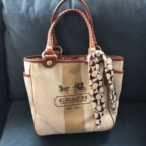 Rare COACH LIMITED EDITION Bleeker Heritage Tote.